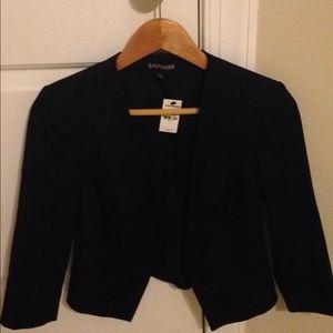 NWT Express womens size 0 black blazer jacket coat